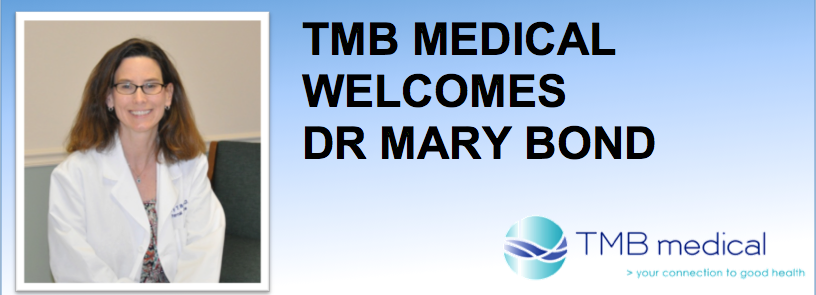 Welcome Dr. Mary Bond
